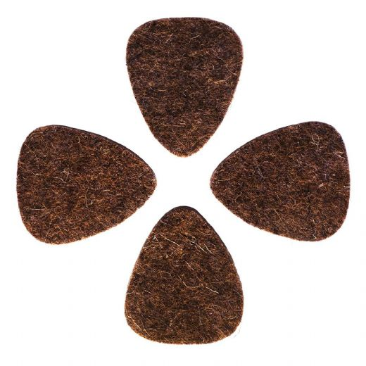Felt Tones Brown Wool Felt 4 Guitar Picks